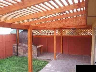 cobertizos significa techos de policarbonato pergolas maderas tratadas 50