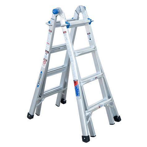 werner aluminum telescoping multi purpose ladder grade 1a