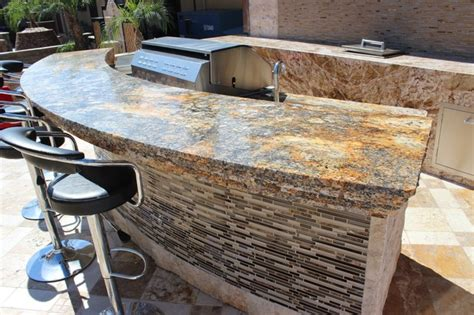Outdoor Bar Countertop Ideas by Granite Outdoor Bar Area Traditional Patio Other
