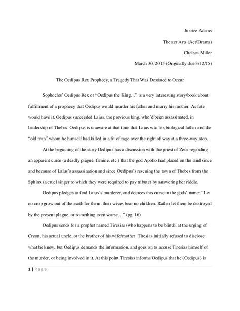 Oedipus Rex Essay Topics by Oedipus Rex Essay Oedipus As A Tragic Essay Application Essay How To Write Ayucar