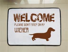 wiener dog door mat funny welcome mat dog lovers gift custom
