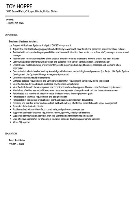 resume examples business analyst resume samples for business analyst