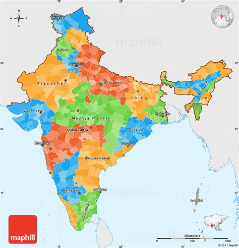India Outline Map Coloured free india political outline coloring pages