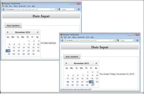 P Calendar Ajax Primefaces Tutorial On Calendar And Input Elements