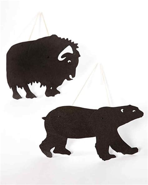 How To Make Shadow Puppets With Paper - animal templates martha stewart