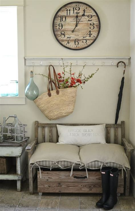 entryway wall decor picture of cozy and simple farmhouse entryway decor ideas 17