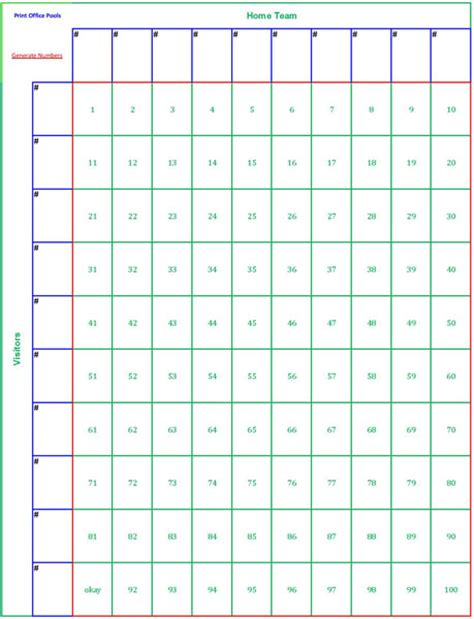 100 square pool template football squares template studio design gallery