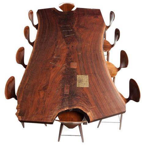 Bddw Furniture by Bddw Walnut Slab Live Edge Dining Table With Cast Bronze