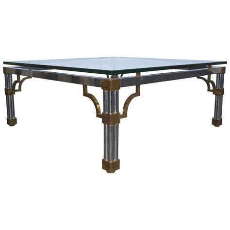 Glass Sofa Tables Sale Vesey Chrome And Glass Top Sofa Table For Sale At 1stdibs