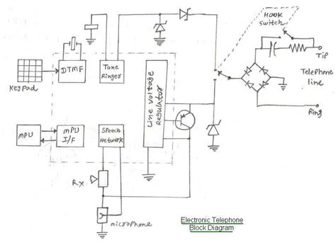 telephone system schematic diagram circuit and