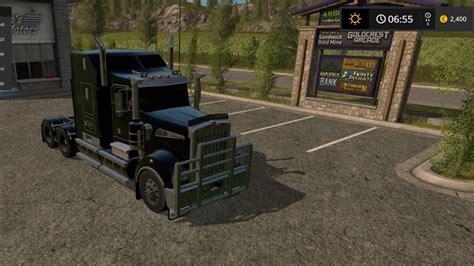 Ken Black Fs kenworth t908 black fs17 farming simulator 17 mod fs