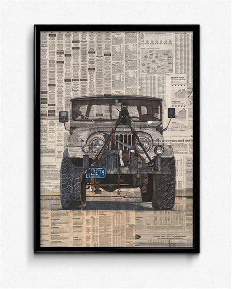 jeep poster jeep cj poster print simply petrol