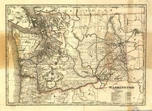 historical map of washington state railroad map 1896