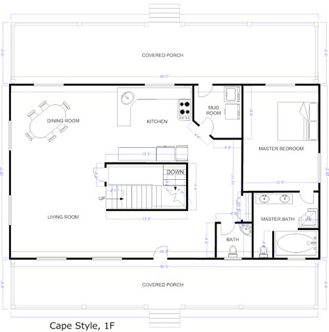 create blueprints free online free house floor plans free floor plan for small house