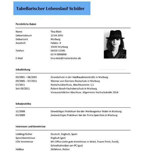 Tabellarischen Lebenslauf Schuler Tabellarischer Lebenslauf Sch 252 Ler Dokument Blogs