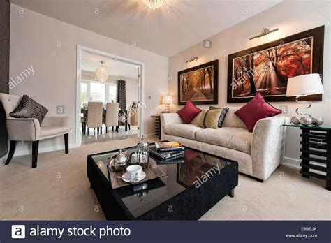 living room show the living room of a persimmon homes show home on a