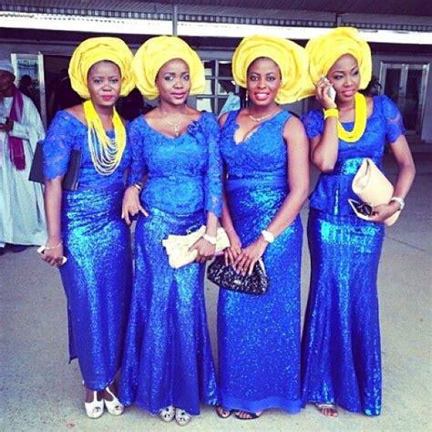 aso ebi style for blue and yellow colour fabulously gorgeous aso ebi styles nigerian wedding
