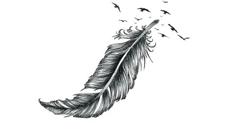 feather with birds tattoo meaning pheasant feather