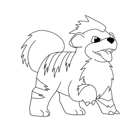 pokemon coloring pages growlithe growlithe coloring pages for kids