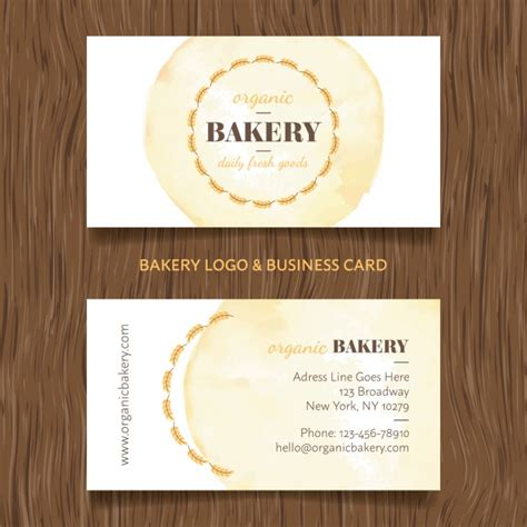 business card template for a bakery bakery business card design vector free