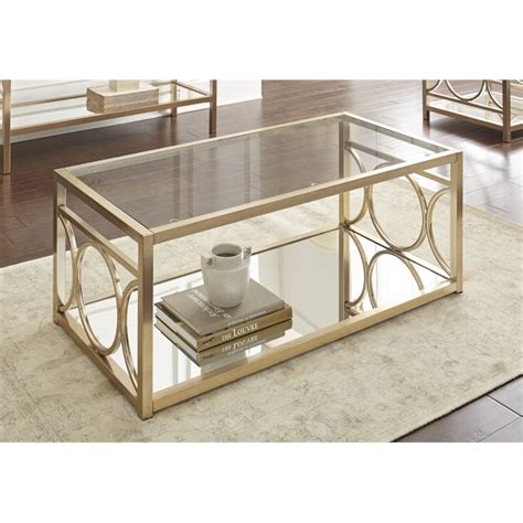 silver and glass coffee table steve silver olympia glass top coffee table in gold chrome