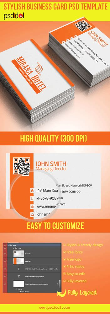 psd business card template with bleed stylish business card psd free template free psd files