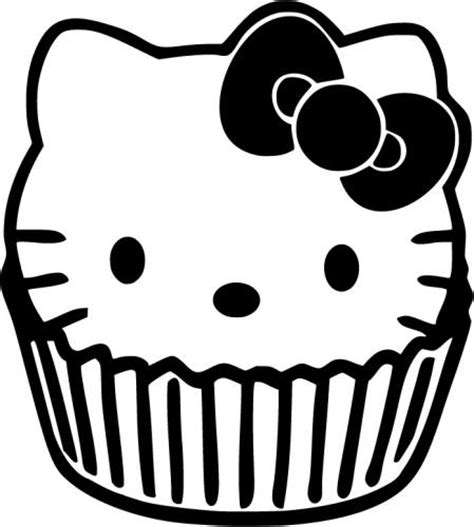 hello kitty cupcake coloring pages skull sassystickers com custom vinyl cut sassy sticker