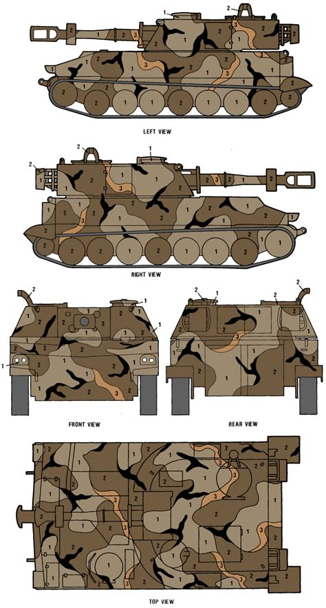 m109 sp howitzer merdc gray desert camouflage color profile and paint guide