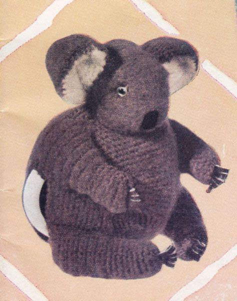 Cozy Koala koala tea cosy from a 1960s book of knitting patterns