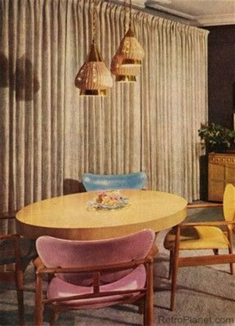 Retro Dining Room Curtains 1000 Ideas About 1950s Home On Vintage House