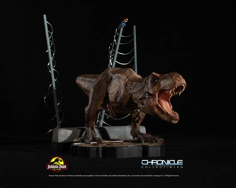 Jurassic Park Collectibles jurassic park t rex breakout diorama by chronicle
