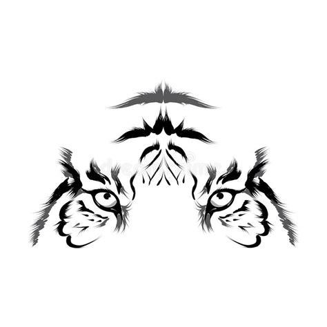 eps outline format tiger head outline vector stock vector illustration of