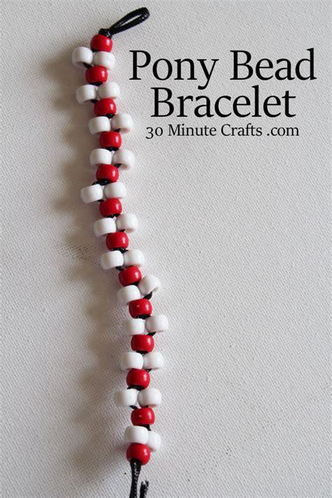 Pony Bead Bracelet 30 Minute Crafts