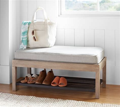 pottery barn shoe bench lucy entry collection shoe bench pottery barn