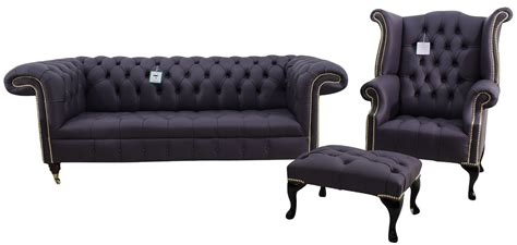 Chesterfield Sofa Suite by Amethyst Chesterfield 1857 Leather Sofa Suite