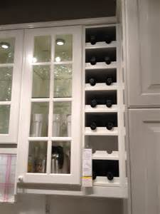 built in wine rack from ikea kitchen
