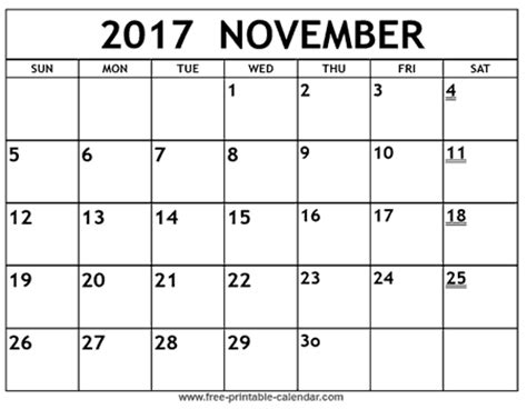 printable calendar 2017 november printable nov calendar calendar template 2016
