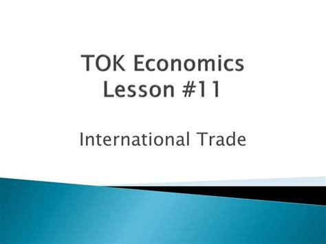 Ppt Tok Economics Lesson 11 Powerpoint Presentation Id 2656622 Tok Presentation Ppt