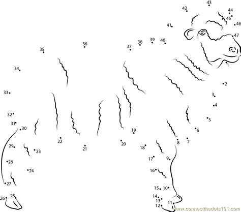 printable dot to dot sheep connect the dots askanian sheep worksheet dot to dots page