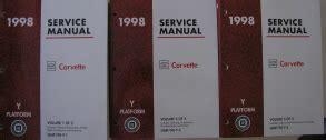 auto manual repair 1998 chevrolet corvette electronic toll collection 1998 chevrolet corvette factory service manual 3 volume set
