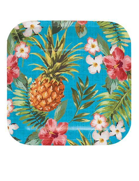 Hawaii Motive by 8 Kleine Pappteller Hawaii Motiv 17 Cm Partydeko Und