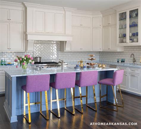 purple kitchen cabinets purple counter stools contemporary kitchen