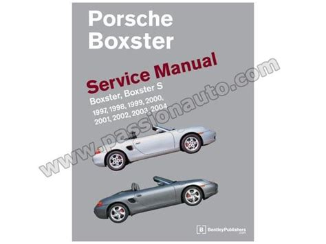 car repair manuals download 2004 porsche boxster parental controls porsche boxster service manual 1997 2004 passionauto com passionauto com
