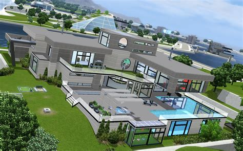 1 Bedroom House mod the sims entertainment futuristic mansion