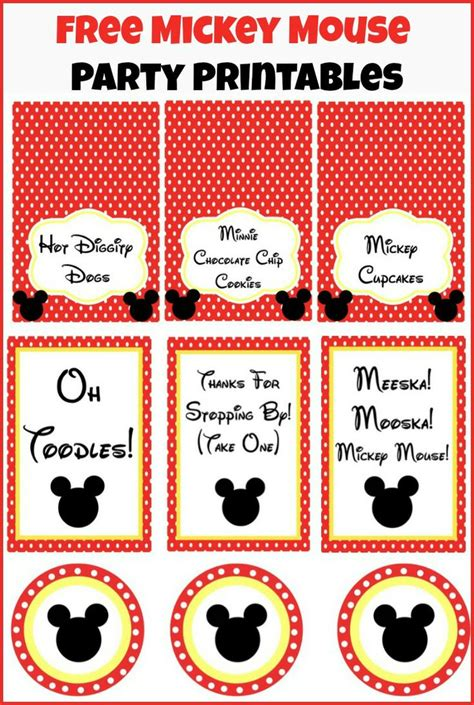 printable mickey mouse birthday decorations 533 best mickey mouse birthday printables images on