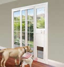 Patio Door With Doggie Door Power Pet Electronic Pet Door For Sliding Glass Patio Doors