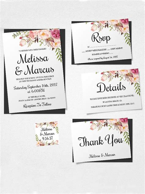 free printable wedding invitation templates 16 printable wedding invitation templates you can diy
