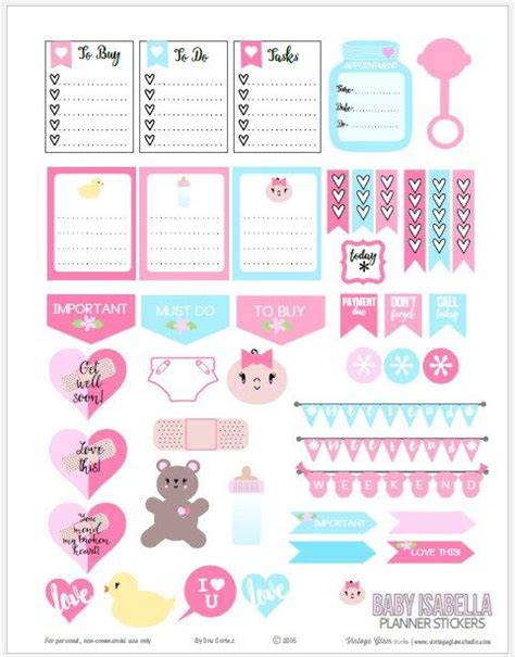 free printable planner stickers pinterest baby themed planner stickers free printable download