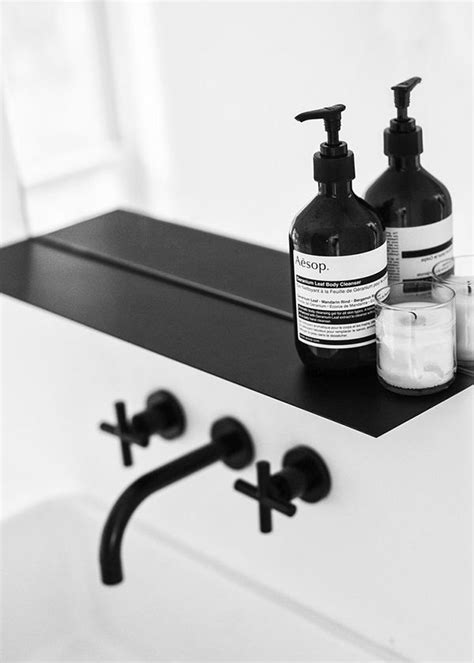 How to style a sophisticated black and white bathroom