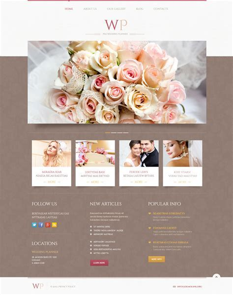 Tender Wedding Planner WordPress Theme #45883